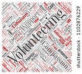 conceptual volunteering ... | Shutterstock . vector #1102876229