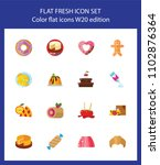 icon set of bakery and... | Shutterstock .eps vector #1102876364