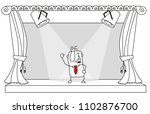 a businessmans is on a stage....   Shutterstock .eps vector #1102876700