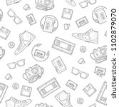 seamless pattern retro... | Shutterstock .eps vector #1102879070