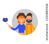 vector illustration of a couple ...   Shutterstock .eps vector #1102885436