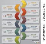 10 steps timeline infographic...   Shutterstock .eps vector #1102886768