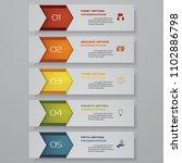design clean number banners...   Shutterstock .eps vector #1102886798