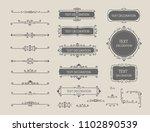 vintage vector set. floral... | Shutterstock .eps vector #1102890539