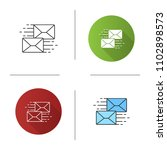mailing icon. correspondence.... | Shutterstock .eps vector #1102898573