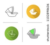 baby car seat icon. infant... | Shutterstock .eps vector #1102898636