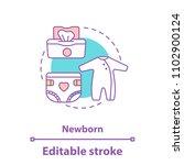 newborn baby concept icon.... | Shutterstock .eps vector #1102900124