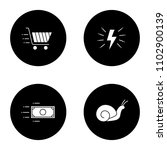 motion glyph icons set. speed.... | Shutterstock .eps vector #1102900139