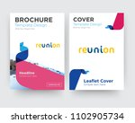 reunion brochure flyer design... | Shutterstock .eps vector #1102905734