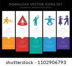 5 vector icons such as person... | Shutterstock .eps vector #1102906793