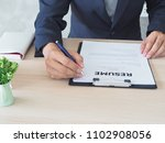 executives are viewing the job... | Shutterstock . vector #1102908056