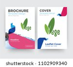 vege brochure flyer design... | Shutterstock .eps vector #1102909340
