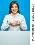 woman holding water glass.... | Shutterstock . vector #1102910624