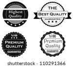 collection of quality and... | Shutterstock .eps vector #110291366
