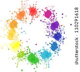 Vector Color Wheel With Flat...