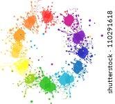 vector color wheel with flat... | Shutterstock .eps vector #110291618