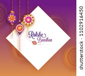 rakhi  indian brother and... | Shutterstock .eps vector #1102916450