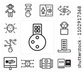 set of 13 icons such as city ...