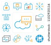 set of 13 icons such as network ...