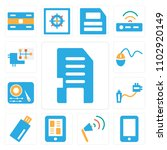 set of 13 icons such as memory...   Shutterstock .eps vector #1102920149