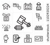 set of 13 icons such as auction ...