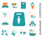 set of 13 icons such as... | Shutterstock .eps vector #1102921226