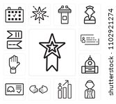 set of 13 icons such as medal ...