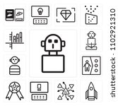 set of 13 icons such as spy ... | Shutterstock .eps vector #1102921310