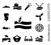 set of 13 icons such as message ...