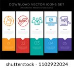 5 vector icons such as...   Shutterstock .eps vector #1102922024