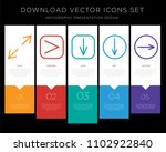 5 vector icons such as resize ...