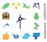 set of 13 icons such as eolian...