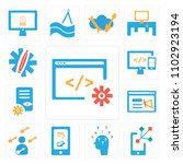 set of 13 icons such as browser ...