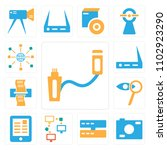 set of 13 icons such as usb ...