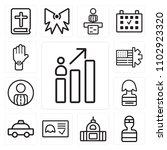 set of 13 icons such as results ...