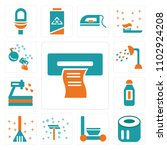 set of 13 icons such as wipes ...
