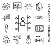 set of 13 icons such as users ...