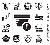 set of 13 icons such as smoke...
