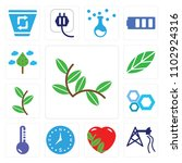 set of 13 simple editable icons ... | Shutterstock .eps vector #1102924316