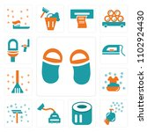 set of 13 icons such as flip...
