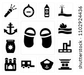 set of 13 icons such as two...