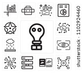 set of 13 icons such as gas...