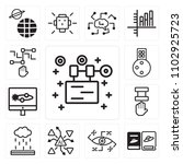 set of 13 icons such as robot ...