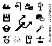 set of 13 icons such as small...
