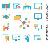 set of 13 icons such as folder  ...