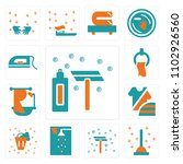 set of 13 icons such as shave ...