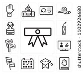 set of 13 icons such as diploma ...