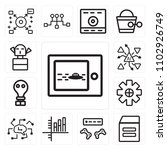 set of 13 icons such as movie ...