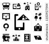 set of 13 icons such as gps ...