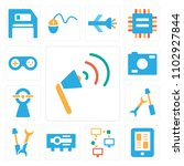 set of 13 icons such as sound...